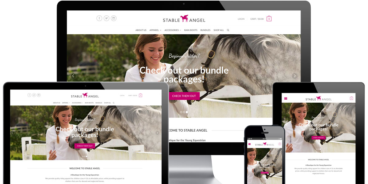 Stable Angel Equestrian Boutique Screens